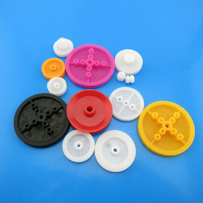 13Kinds Plastic Belt Pulley Gears 13mm 15mm 24mm 6mm 36D DIY Model Car Wheel