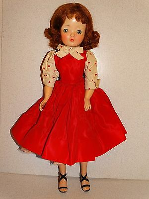 "Madame Alexander 1957 Redhead 20"" CISSY #2110 RED DAY DRESS Doll!"