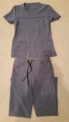 LYNX size XS Women's Scrubs Top and Bottom Gray set - medical / dental