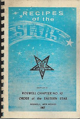 Roswell Nm 1967 Recipes Of The Stars Cook Book *oes *order Of The Eastern Star