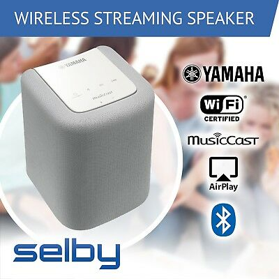 Yamaha WX-010W Wireless Speaker MusicCast WiFi Bluetooth Airplay White WX010W