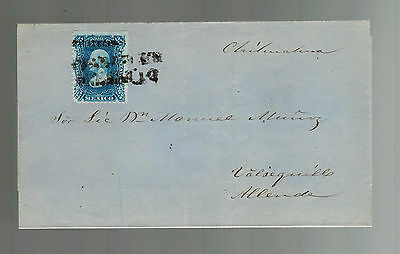 1874 Chihuahua Mexico Wrapper Cover to Allende