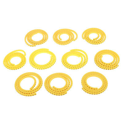 1000x Yellow Cable Markers Identification Label Managment Number 0~9 0.5mm²~6mm²