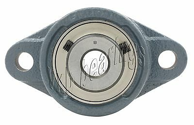 "SAFTD207-22G New 1-3//8/"" Eccentric Locking Bearing with 2 Bolt Ductile Flange"