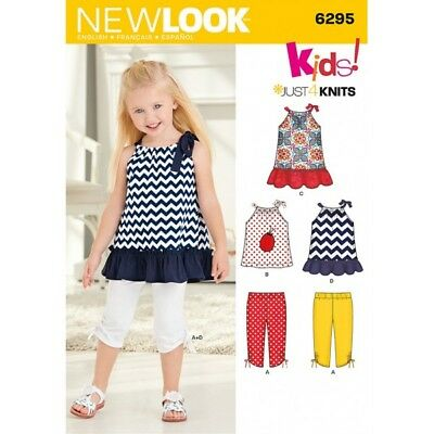 New Look Toddlers' Knit Capri Leggings and Dress Sewing Pattern 6295