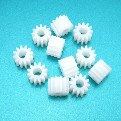 10pcs 1012DF Plastic Gear D Shape Hole 3mm 12T M0.5 For N20 D-Axis Motors DIY
