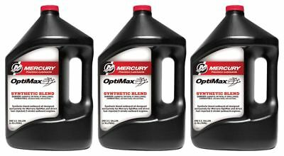 OEM Mercury Optimax/DFI 2-Cycle Outboard Oil Case of 3 Gallons