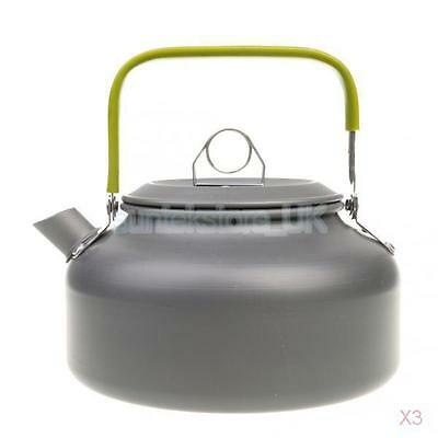 3x Portable Lightweight 0.8L Water Kettle Teapot for Outdoor Camping Picnic