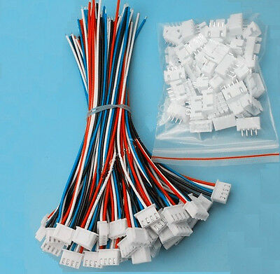 5 Sets XH2.54 4Pin 1007 24AWG Single End 15cm Wire To Board Connector