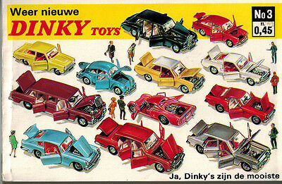 1967 Dinky Toys Catalogue -  No.3  Netherlands Edition - 160 Pages.