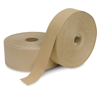 Gumstrip Brown Sealing Tape Artist Picture Framing 40mm & 50mm x 200 Metre Rolls