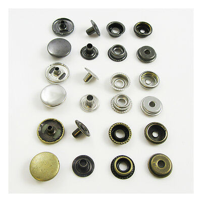 Spring & Regular Snap Pop Stainless Steel Fasteners *3 Colours* Leathercrafts