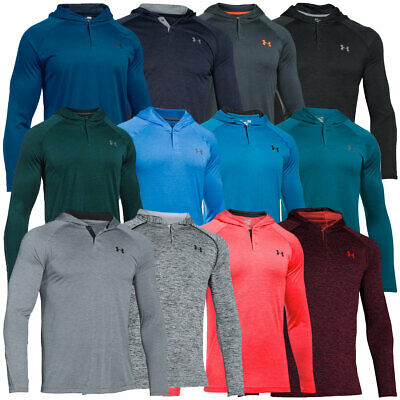 Under Armour 2017 Mens Tech Popover Henley Hoody Pullover Hooded Jumper