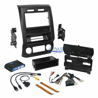 Car Radio Stero Dash Kit Integrated Climate Control for 2015-17 Ford F150 F250