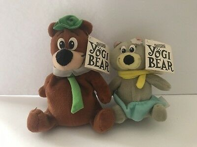 Yogi Bear & Boo-Boo Cartoon Network Beanbags Plush Nwt