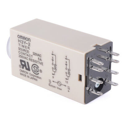 AC220V H3Y-2 8-pin Power On Time Delay Relay Solid-State Timer DPDT Socket BI600