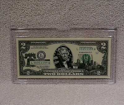 Pennsylvania  $2 Two Dollar Bill Colorized State Landmark Uncirculated Authentic