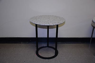 VINTAGE Marble round knoll eames era MID CENTURY Occasional SIDE END lamp TABLE