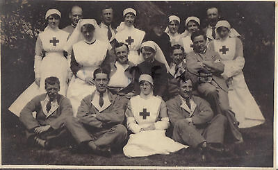WW1 wounded soldier hospital blues VAD Voluntary Aid Detachment Nurse Matron