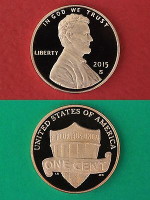 2015-S Proof Lincoln Shield Cent Penny Deep Cameo Flat Rate Shipping