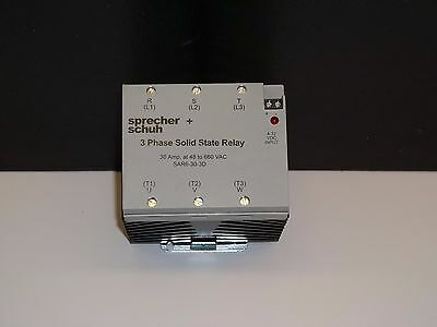 Sprecher + Schuh 3 Phase Solid State 30 Amp Relay