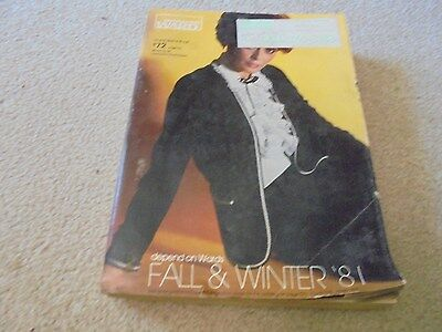 Vintage 1981 Montgomery Ward Fall and Winter Catalog