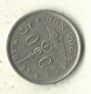 A High Grade 1923 Belgium 50 Centimes Coin-Oct605