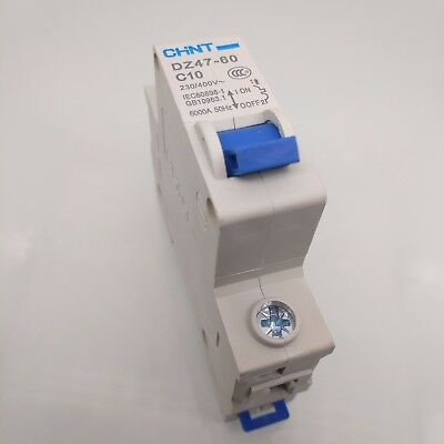New DZ47-60 C10 1P 10A Rated Current 3 Pole Miniature Circuit Breaker