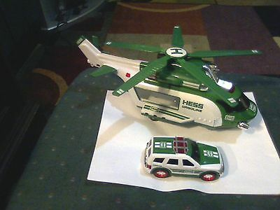 2012 Hess Helicopter And Rescue Vehicle Complete Tested Working