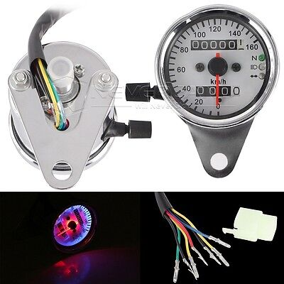 LED Speedometer Odometer Gauge Backlight For Harley Cafe Racer Dyna Universal