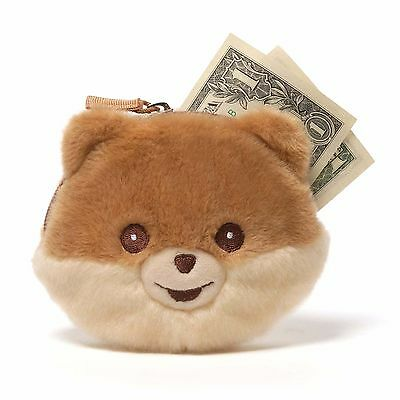 New GUND Plush Toy Stuffed Animal POMERANIAN POM Puppy Dog BOO Coin Bag Purse