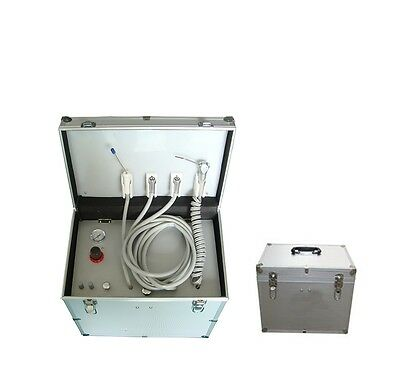 Portable Dental Delivery Unit w/ Compressor Three Way Syringe /Suction System CE