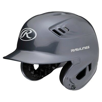 Rawlings R16 R16J-SIL Junior (6 3/8 - 7 1/8) Metallic Silver Gray Batting Helmet