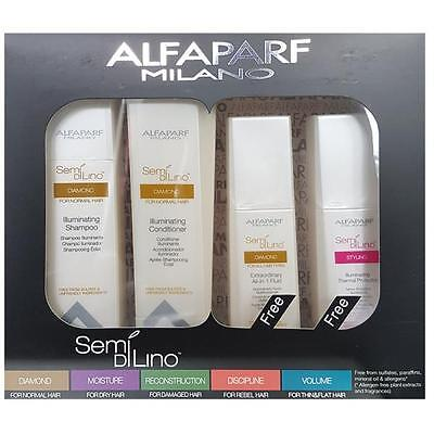 AlfaParf  Diamond Set Shampoo,Conditioner Split Ends Recovery Fluid Thermal Pro