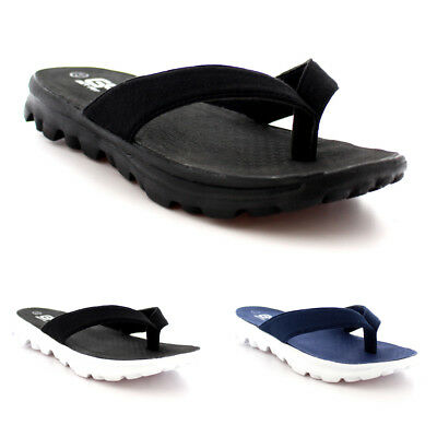 Mens Outdoor Beach Sports Athletic Holiday Sandals Thong Flip Flops All Sizes