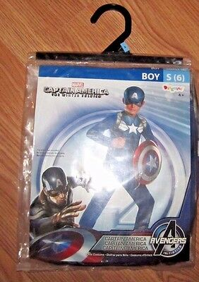 Avengers Captain America Winter Soldier Childs Costume - Boy's Size Small - 6
