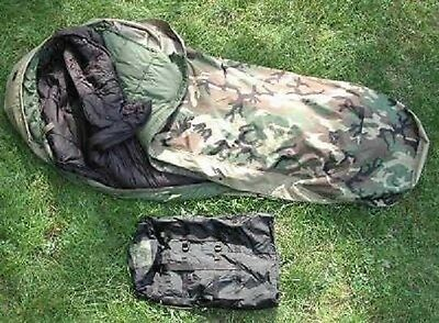 US Army Military MSS Sleeping bag System Schlafsack Woodland