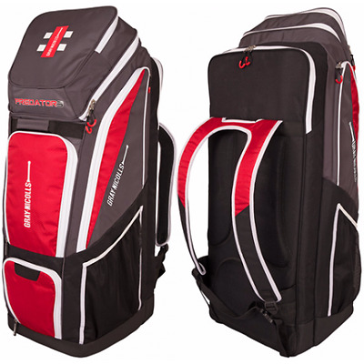 2017 Gray Nicolls Predator 3 Pro Black Grey Red Duffle Cricket Bag