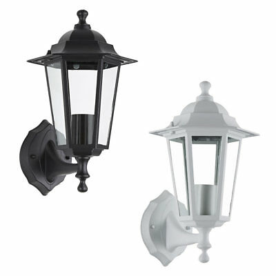 Traditional Victorian Style Outdoor Garden Wall Lantern Light - Black or White