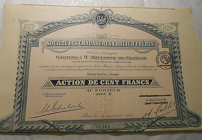 1924 Action 100F Chaussures Ehrlich Freres