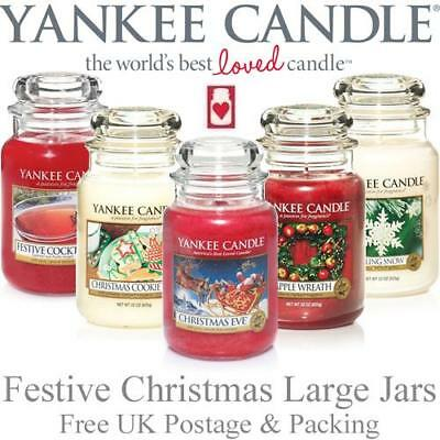 Yankee Candle Festive Large Jars Variety of Fragrances FREE P&P