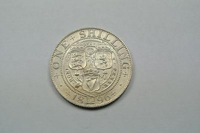 Great Britain Silver Shilling, 1896, AU Condition - C2836