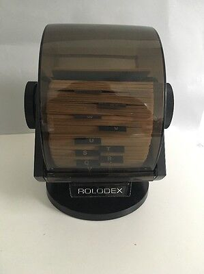 Vintage Rolodex Model NO.SW-24C Wood Tone!  Swivels!!