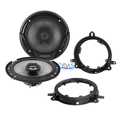 "Kenwood 6.5"" Car Stereo Speakers with Speaker Adapters for Toyota Lexus Scion"