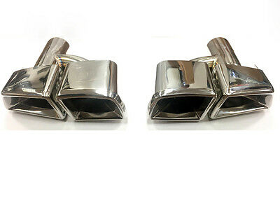 Mercedes AMG Style Tailpipes E63 C63 CL63 CLS63 ML63 GL63 QUAD SQUARE TIPS