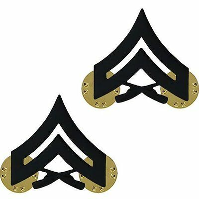 Corporal Two Cpl E4 Scratch Resistant Hat Lapel Pin Up Us Marines Promotion Usmc