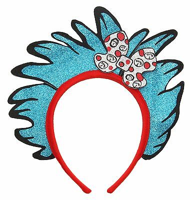 Dr. Seuss Cat In The Hat Thing 1 & 2 Glitter Child Kids Costume Headband Elope
