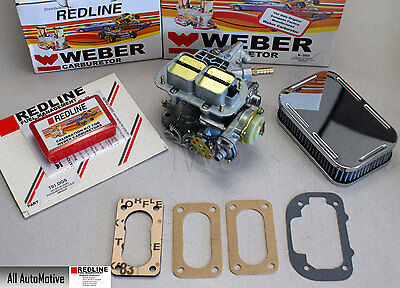 Weber 38/38 DGAS Performance Upgrade kit w/new Carb, Jetpack, filter, gaskets