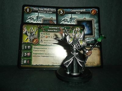 W.O.W. Miniature, Archmage Arugal - with stat card and 2 in game cards NEW!!!