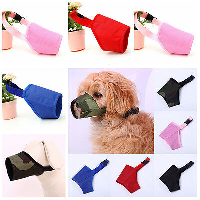 Fashion Pet Dog Pet Safety Mouth Cover Muzzle Adjustable Anti Bite Chew Bark